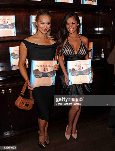 Katerina Vanderham and Bambi Lashell attend The Big Book Of Breasts 3D book launch party at Taschen on April 28 2011 in Beverly Hills California