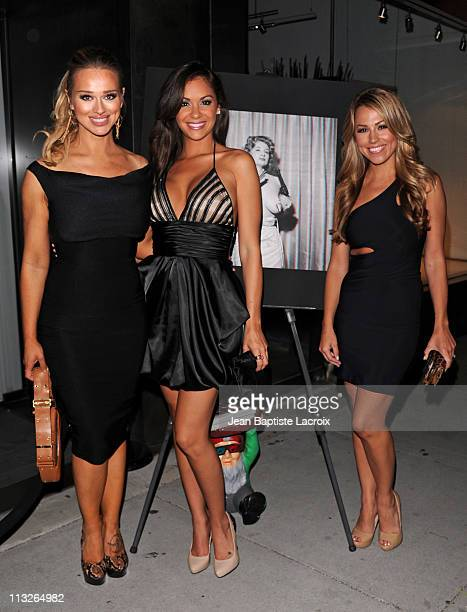 Katerina Vanderham Bambi Lashell and Jessica Hall attend The Big Book Of Breasts 3D book launch party at Taschen on April 28 2011 in Beverly Hills...