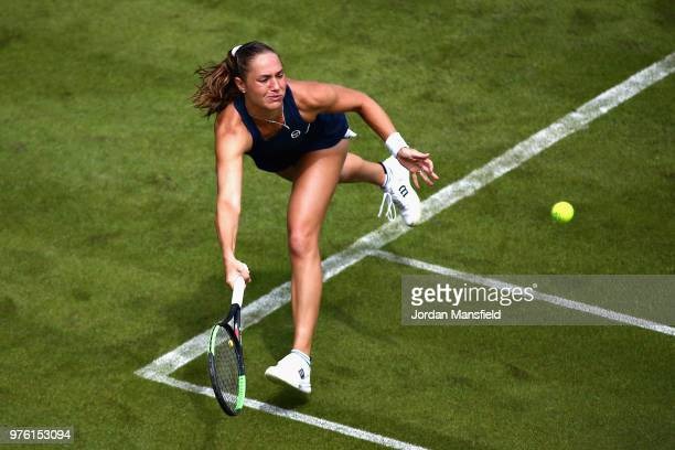 Kateryna Bondarenko of Ukraine in action during Day One of the Nature Valley Classic at Edgbaston Priory Club on June 16 2018 in Birmingham United...