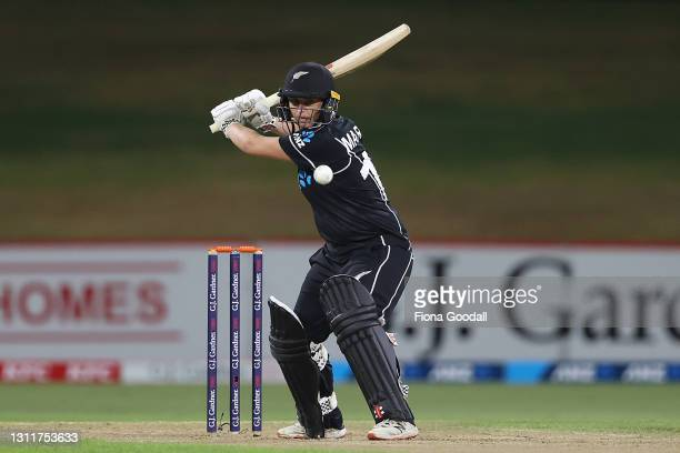 Katey Martin of New Zealand takes a shot during game three of the One Day International series between the New Zealand White Ferns and Australia at...