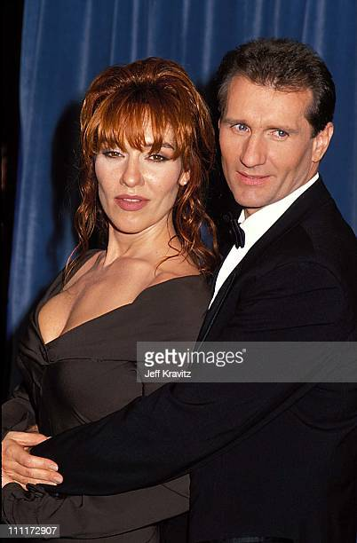 Katey Sagal and Ed O'Neill during 1989 Emmy Awards in Los Angeles California United States