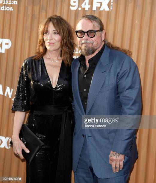 Katey Sagal and Kurt Sutter attend the premiere of FX's 'Mayans MC' at TCL Chinese Theatre on August 28 2018 in Hollywood California