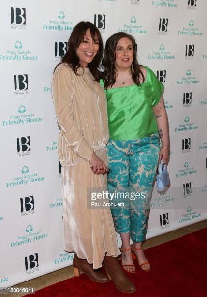 Katey Sagal and Lena Dunham attend the 'Friendly House' 30th annual awards luncheon at The Beverly Hilton Hotel on October 26 2019 in Beverly Hills...