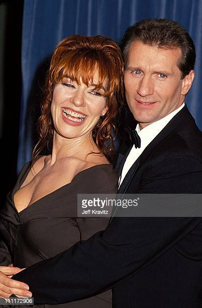 Katey Sagal Ed O'Neill during 1989 Emmy Awards in Los Angeles California United States