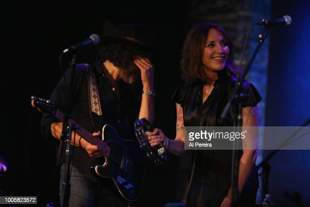 Katey Sagal performs with The Reluctant Apostles at City Winery on July 26 2018 in New York City