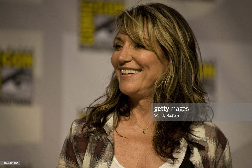 Katey Sagal speaks at the Sons of Anarchy panel at Comic-Con on July 25, 2010 in San Diego, California.