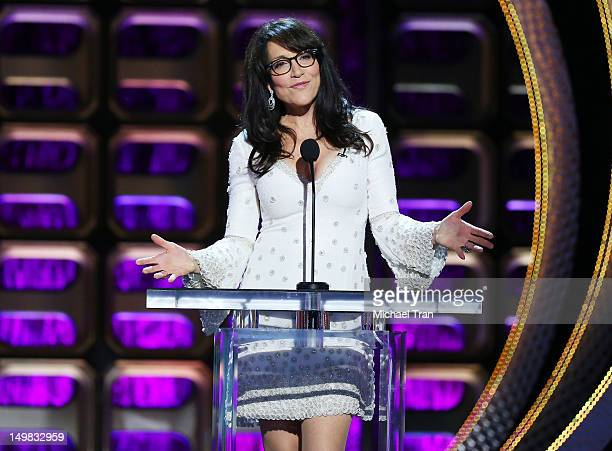 Katey Sagal speaks onstage at the Comedy Central Roast of Roseanne Barr held at Hollywood Palladium on August 4 2012 in Hollywood California