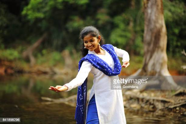 Kathak Dancer Performing in the Outdoors