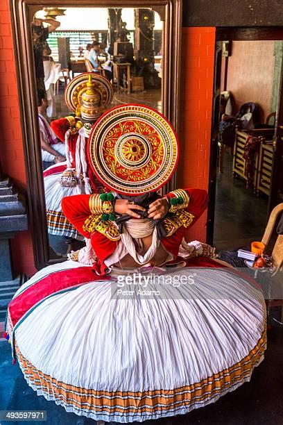 Kathakali dance performance near Kochi, Kerala
