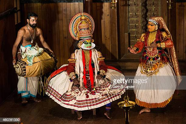 Kathakali is a classical Indian dance drama noted for its attractive and very unusual makeup of the characters The application of the actors makeup...