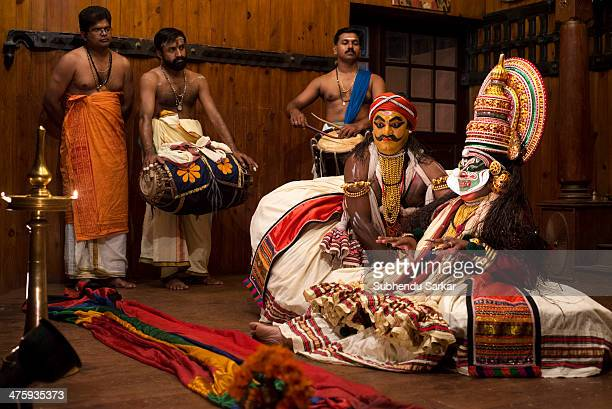 CONTENT] Kathakali is a highly stylized classical Indian dancedrama noted for the attractive makeup of characters elaborate costumes detailed...
