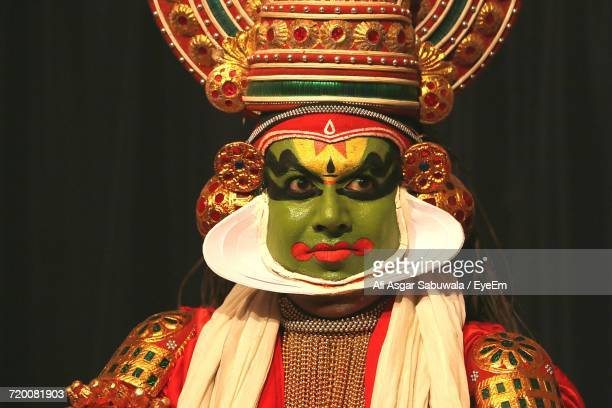 Kathakali Performer In Traditional Clothing