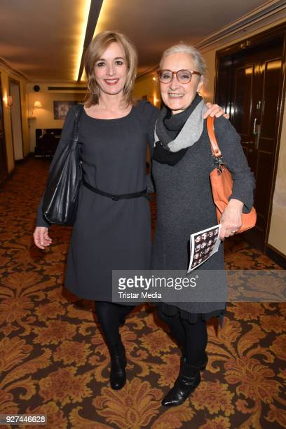 Katharina Abt and Eleonore Weisgeber attend the 'Die Niere' premiere on March 4 2018 in Berlin Germany