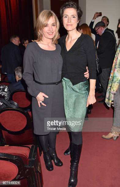 Katharina Abt and Julia Bremermann attend the 'Die Niere' premiere on March 4 2018 in Berlin Germany