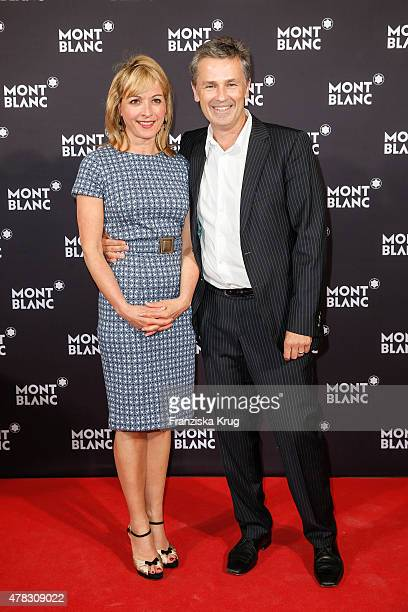 Katharina Abt and Timothy Peach attend the Montblanc De La Culture Arts Patronage Award 2015 on June 24 2015 in Hamburg Germany