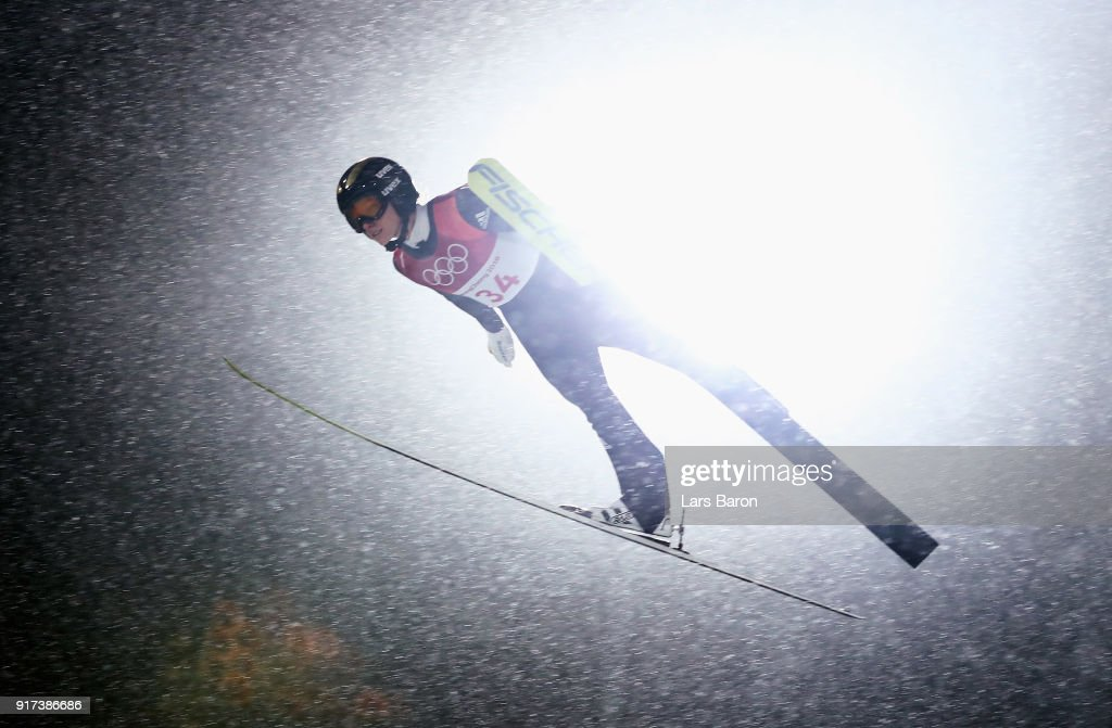 Katharina Althaus of Germany makes a jump during the Ladies' Normal Hill Individual Ski Jumping Final on day three of the PyeongChang 2018 Winter Olympic Games at Alpensia Ski Jumping Centre on February 12, 2018 in Pyeongchang-gun, South Korea.