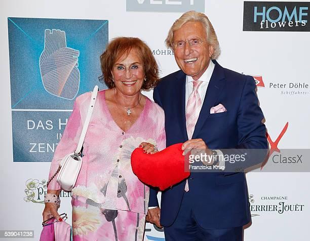 Katharina Baumann and Manfred Baumann attend the 'Das Herz im Zentrum' Charity Gala on June 9 2016 in Hamburg Germany