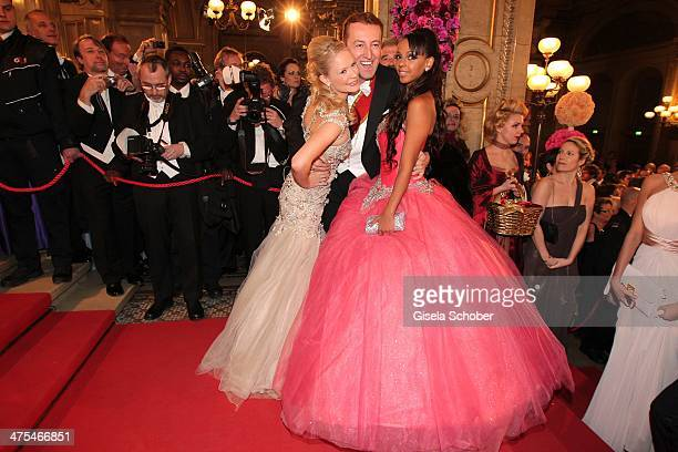 Katharina Boe Max Mario Schaumburg Lippe and Kolibri Bahati Venus attend the traditional Vienna Opera Ball at Vienna State Opera on February 27 2014...