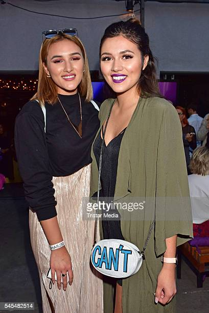 Katharina Damm and Anna Maria Damm attend the URBAN DECAY Vice Lipstick Launch at Prince Charles Club on July 7 2016 in Berlin Germany