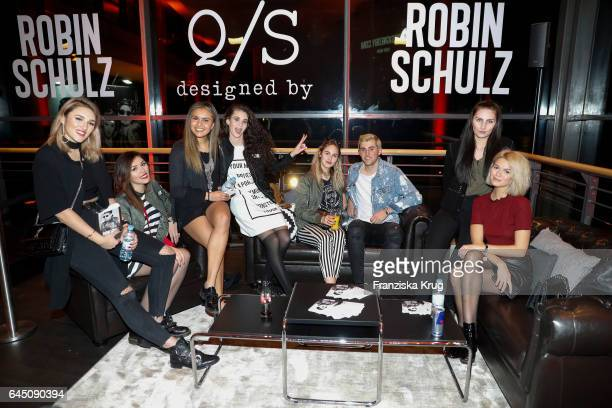 Katharina Damm AnnaMaria Damm guest Betty Taube Elena Carriere Jannik Stutzenberger guest and Louisa Mazzurana attend the 'Robin Schulz The Movie'...