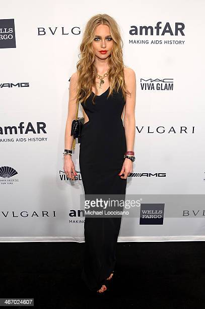 Katharina Damm attends the 2014 amfAR New York Gala at Cipriani Wall Street on February 5 2014 in New York City