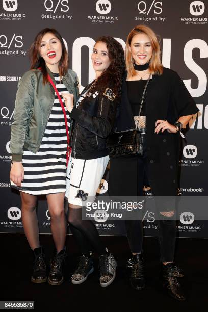 Katharina Damm Betty Taube and AnnaMaria Damm attend the 'Robin Schulz The Movie' world premiere at Cinemaxx on February 24 2017 in Hamburg Germany