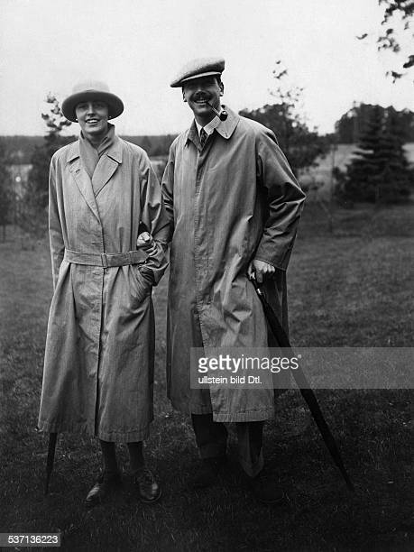 Katharina Eleonore Veronika Irma Luise Henckel von Donnersmarck with her husband Erich von GoldschmidtRothschild at the golf course in Wannsee about...