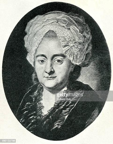 Katharina Elisabeth Goethe , known as 'Frau Rat', mother of Johann Wolfgang von Goethe - German poet, novelist, dramatist, and philosopher. August...