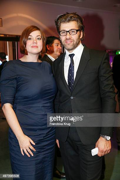 Katharina Fegebank and Gunnar Henke attend the Media Entertainment Night 2015 on November 16 2015 in Hamburg Germany