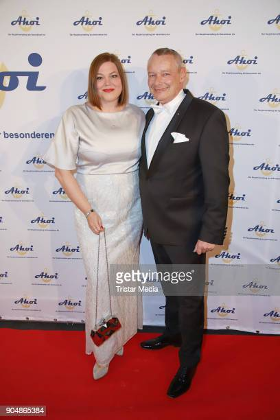 Katharina Fegebank and Harry Schulz attend the 'Ahoi 2018 The special kind of New Year's Reception on January 13 2018 in Hamburg Germany