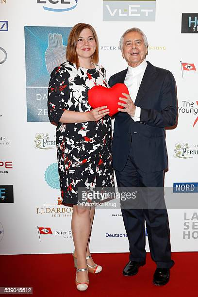 Katharina Fegebank and John Neumeier attend the 'Das Herz im Zentrum' Charity Gala on June 9 2016 in Hamburg Germany