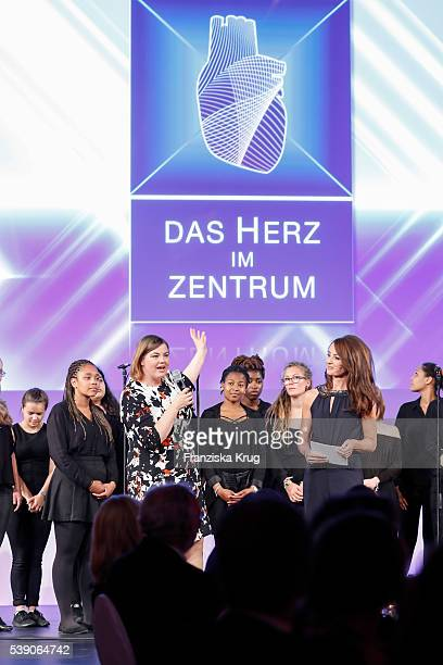 Katharina Fegebank and Sabrina Staubitz attend the 'Das Herz im Zentrum' Charity Gala on June 9 2016 in Hamburg Germany