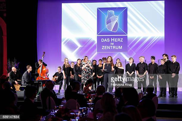 Katharina Fegebank and Sabrina Staubitz attend the 'Das Herz im Zentrum' Charity Gala on June 9, 2016 in Hamburg, Germany.
