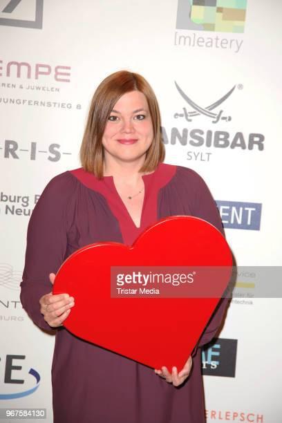 Katharina Fegebank attends the Charity Gala 'Das Herz im Zentrum' on June 4 2018 in Hamburg Germany