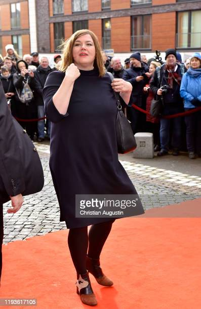 Katharina Fegebank during the memorial service for Jan Fedder at Hamburger Michel on January 14 2020 in Hamburg Germany German actor Jan Fedder was...