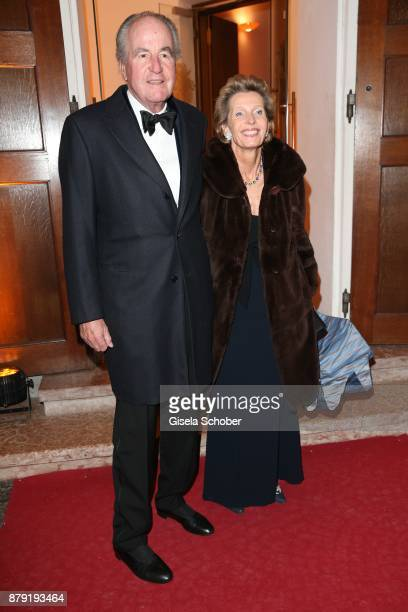 Katharina Freifrau von Perfall and her husband during the 80th birthday party of Roland Berger at Cuvillies Theatre on November 25 2017 in Munich...