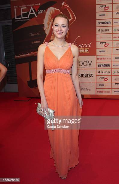 Katharina Gottesleben attends the LEA Live Entertainment Award 2014 at Festhalle Frankfurt on March 11 2014 in Frankfurt am Main Germany