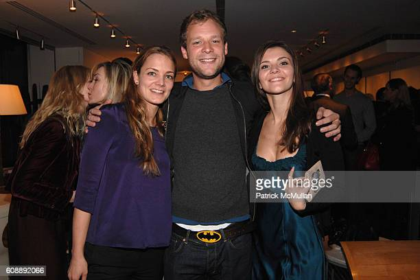 Katharina Harf Jakob Eichel and Alina Suprunova attend Party for SANDY HILL New Lifestyle Book FANDANGO at Galerie Mark on November 19 2007 in New...