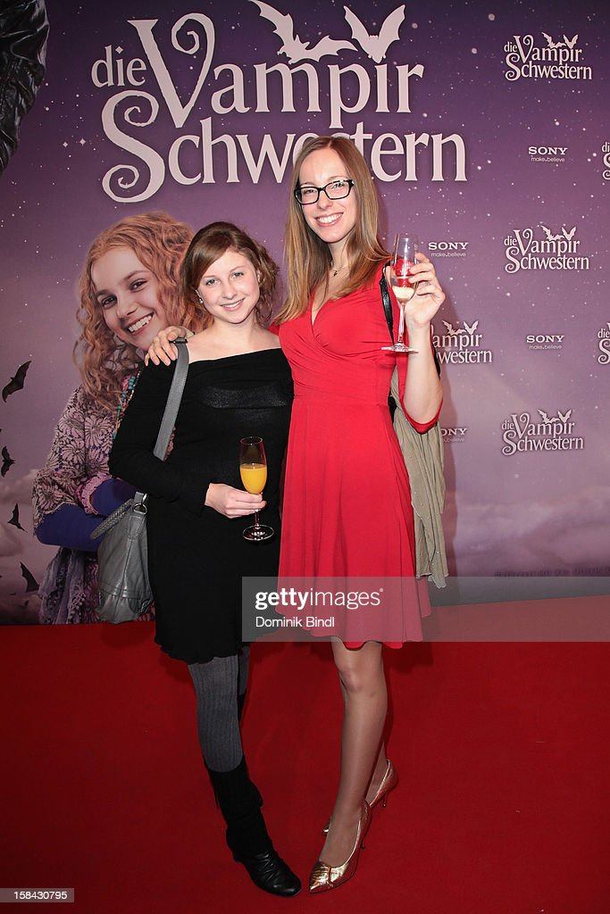Katharina Herdl and Uta Kuehn attend the 'Die Vampirschwestern' Germany Premiere on December 16, 2012 in Munich, Germany.