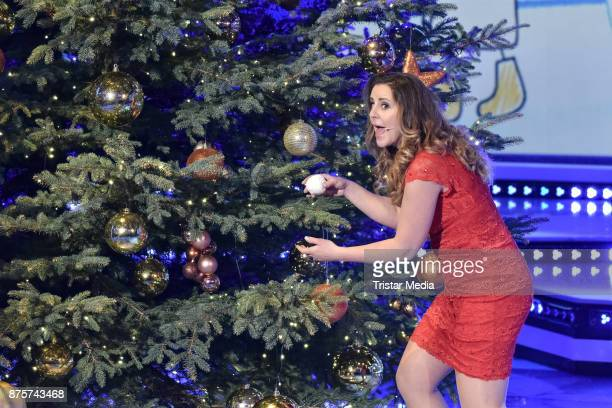 Katharina Herz performs during the Stefanie Hertel Show 'Die grosse Show der Weihnachtslieder' on November 17, 2017 in Suhl, Germany.