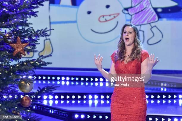 Katharina Herz performs during the Stefanie Hertel Show 'Die grosse Show der Weihnachtslieder' on November 17 2017 in Suhl Germany