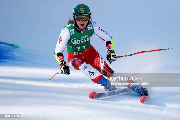 Katharina Liensberger of Austria competes during the Audi FIS Alpine Ski World Cup Women's Giant Slalom on December 28, 2019 in Lienz Austria.