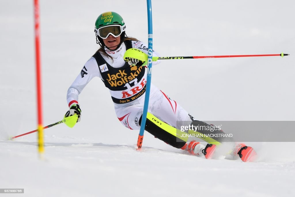 Katharina Liensberger of Austria competes in the Women's ...