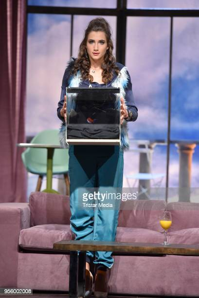 Katharina Maria Abt performs during the press rehearsal for 'Kasimir und Kaukasus' on May 8, 2018 in Berlin, Germany.
