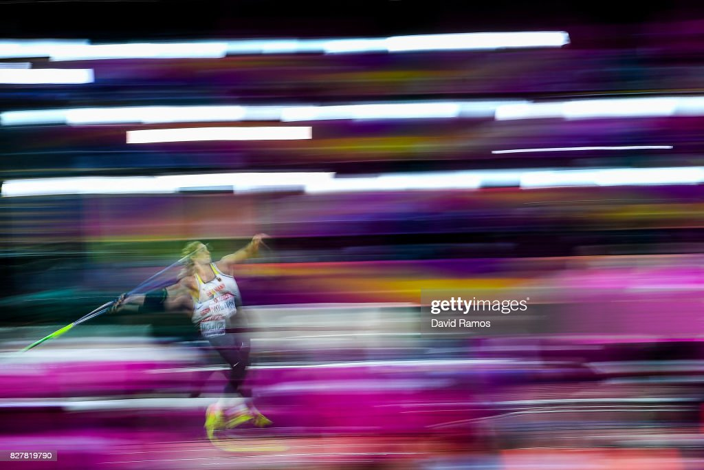 Katharina Molitor of Germany competes in the Women's Javelin final during day five of the 16th IAAF World Athletics Championships London 2017 at The London Stadium on August 8, 2017 in London, United Kingdom.