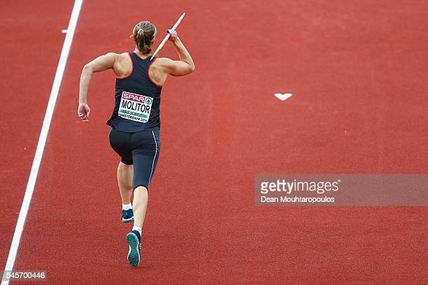 Katharina Molitor of Germany in action during the final of the womens javelin on day four of The 23rd European Athletics Championships at Olympic...