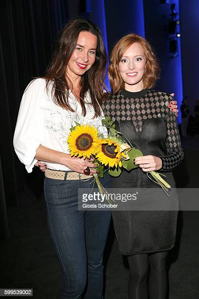 Katharina MuellerElmau and Lavinia Wilson during the premiere for the film 'Maennertag' at Mathaeser Filmpalast on September 5 2016 in Munich Germany