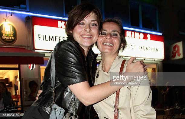 Katharina Nesytowa and Alice Dwyer attend the 'Let's Go' premiere as part of Filmfest Muenchen 2014 at Rio Filmpalast on July 2 2014 in Munich Germany