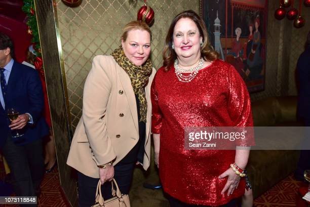 Katharina OttoBernstein and Alison Mazzola attend George Farias Anne Jay McInerney Host A Holiday Party at The Doubles Club on December 13 2018 in...