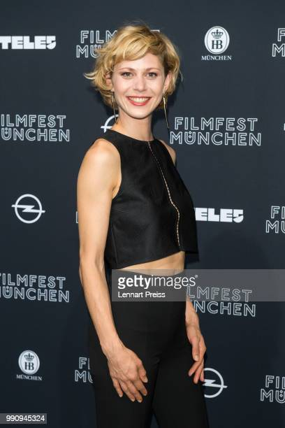Katharina Schlothauer attends the premiere of the first and second episode of the series 'Die Protokollanttin' as part of the Munich Film Festival...
